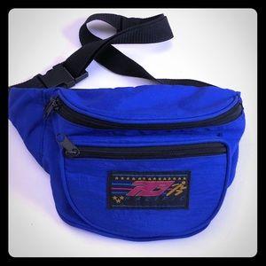 Vintage 80s cobalt Blue Fanny Pack